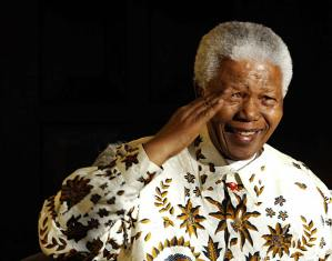 Nelson Mandela, the former South Africa