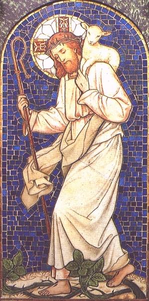 Jesus holding lamb - decent